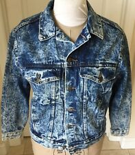 Vintage Women's Stonewashed Denim Jacket By First Sz Medium Made USA