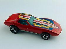 Hot Wheels Redline CORVETTE STINGRAY Red Enamel Flying Colors VG/EX Clean!