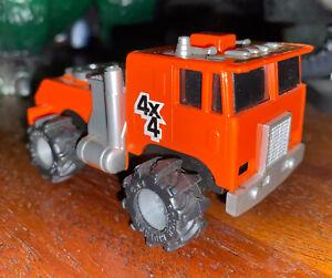 Vintage LJN Rough Riders 4x4 Orange Semi Monster Truck Stomper For Parts Repair