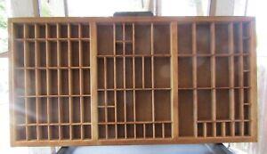"Vintage Wooden 89B-Square Typography Drawer Tray Display Shelf 32x17"" FN+ 6.5"