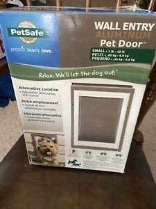 Petsafe Wall Entry Aluminum Pet Door Small 1-15lb NEW