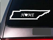"""Tennessee home 6"""" sticker *E659* state outline home map decal vinyl"""