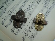 French 2 small antique  latch locks slide bolt country hardware