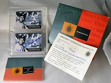 TED WILLIAMS UDA AUTOGRAPH SIGNED Upper Deck Authenticated 2-Card Set COA + BOX
