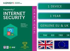 Kaspersky Internet Security 1 PC or Device 1 Year - EU & UK Genuine Emailed