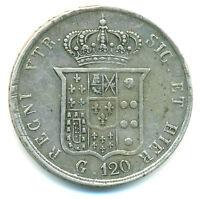 Italien-Neapel, Ferdinando II., Piastra da 120 Grana 1857