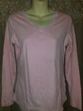 "Women's Medium  (8/10) Pink V-Neck ""Active Tee"" Knit Cotton Top by Danskin Now"