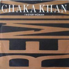"CHAKA KHAN - I'M EVERY WOMAN (REMIX) 7"" VINYL 1980s DISCO DANCE HOUSE 1989 EX/EX"