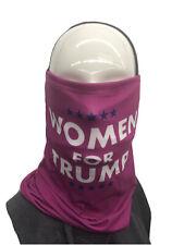 5PK WOMEN FOR TRUMP  Face Mask Neck Gaiter Face Shield / US SELLER FAST SHIPPING