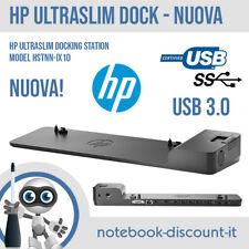 HP UltraSlim Docking Station USB 3.0 Elitebook Folio HSTNN-IX10 ZBook NUOVA NEW