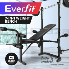 Everfit 7In1 Weight Bench Multi-Function Power Station Fitness Gym Equipment