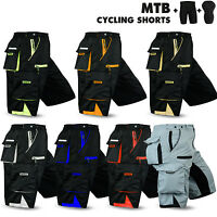 MTB Cycling Short Bicycle Off Road With CoolMax Padded Liner Shorts All Colors