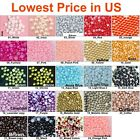 1000 pcs Half Round Flat Back Pearl Beads Multi Color Size 2mm 3mm 4mm 5mm 7mm