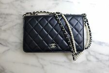 *NEW 2017 CHANEL *LIMITED EDITION* | PEARL WALLET ON CHAIN Quilted Black WOC Bag
