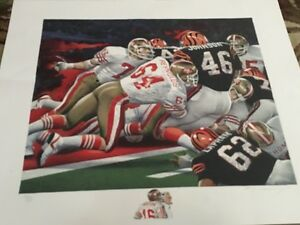 LIMITED EDITION Merv Corning NFL Signed 49ers vs Bengals Super Bowl XVI painting