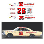 26 Junior Johnson Holly Farms DECAL 1/64 scale fits AFX Tyco Lifelike Autoworld