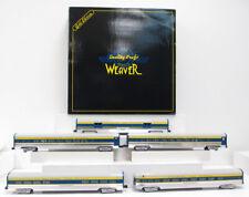 Weaver 1221 Delaware and Hudson 5 Car 20 inch Aluminum Passenger Cars (3 Rail)