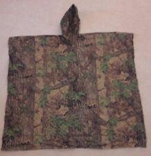 "Realtree Hunting Rain Poncho 50""x80"" Camouflage Hooded Sleeveless Camo"