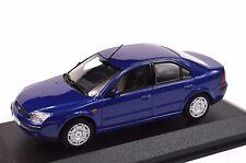 FORD MONDEO 3 4 DOOR 2000 BLUE DEALER MODEL MINICHAMPS 433 080004 1:43 NEW
