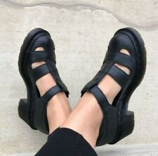 Rare 90s Dr. Martens Baby T-Bar/t-strap Platform Sandals Shoes Open Booties.