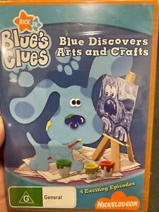 Blue's Clues - Blue Discovers Arts And Crafts NEW region 4 DVD (Nickelodeon show
