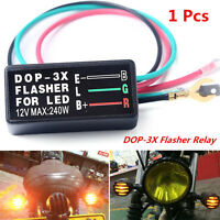 12V Universal Motorcycle ATV Turn Signal LED Light 3 Pin Flasher Blinker Relay