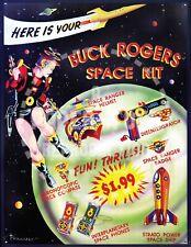Vintage Reprint - Buck Rogers Space Ranger Kit Metal Sign - Reprinted On Paper