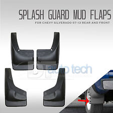 07-13 Silverado Mud Flaps Guards Splash Flares 4 Piece Front & Rear