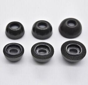 For Apple Airpods Pro Memory Foam Ear Tips BLACK W/Ear Wax Filter Choose Size