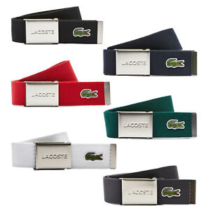 LACOSTE Men's Belt Made of Fabric Pretty Case Color Selection 90-110cm