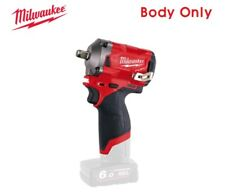 Milwaukee M12 FUEL 1/2 Inch Pin Stubby Impact Wrench Bare Tool - Body Only