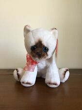 White & Brn Cat Soft Plush Toy Valentines Day Bear/Gift