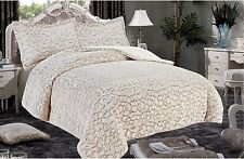 3 PC KING THICK Luxurious Faux Fur Soft warm sherpa bed WHITE Blanket ALASKA