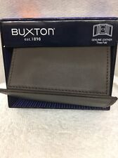 Buxton Genuine Leather Trifold Wallet  Brown   NEW WITH BOX