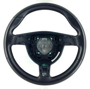 Genuine OEM Porsche 911 997 987 black leather Gen 1 sport steering wheel. 2E