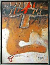 Jiawan Jang *1968 Kaifeng/China: Ölgemälde Collage, 120 x 90 cm 1990er J. selten