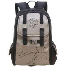 Anime My Neighbor Totoro PU Leather Backpack Boy Girl School Bag Outdoor Fashion