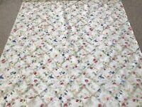 "Fabric drapery upholstery floral trellis design lightweight 57""w 10 yds NWOTS"