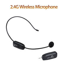 NEW 2.4G Wireless Microphone Headset MIC Audio PC & 3.5mm Jack For Voice Booster