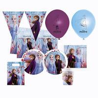 Kit Partido Disney Frozen II 24 Personas Vasos Platos Paño Servilletas 1616