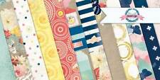 BoBunny Sweet Life Scrapbook  Paper Kit  12 pcs Bo Bunny Lot 12x12 Double Sided