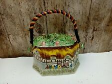 VINTAGE LINGARD WEBSTER BISCUIT LIDDED BARREL 'Anne Hathaway's Cottage c1935
