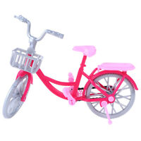 Doll bicycle toy accessories doll house scene display props 28 Jf