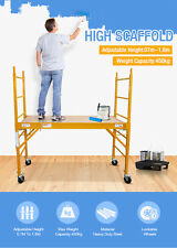 BRAND NEW 450KG(1000lbs) Mobile Safety High Scaffold Work Platform Ladder Tool
