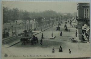 Paris 75 CPA Street Rivoli Garden Of Tuileries With Atelage Good Mint Animée1910