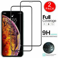 2 X For iPhone 11 Pro X XR XS Max 10D 9H Premium Tempered Glass Screen Protector