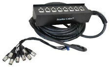 NEW 8 Channel 49' Cable Snake.DJ Gear.Concert Audio Equipment.PA System.Sound.