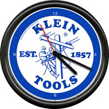 Klein Tools Electrician Electrical Sign Lineman Powerlines Cable Sign Wall Clock