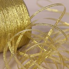 20Yards 3mm Gold Silk Satin Ribbon Party Home Wedding Decoration Gift Wrapping