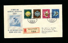 Switzerland 1948 Olympics Cacheted Registered FDC  Sc B170-73 / Zum W25w-28w